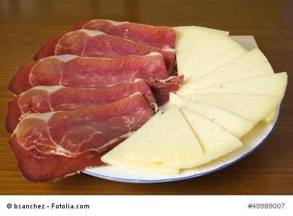 Plato de jamón y queso - Manchego-Käse und Serrano-Schinken